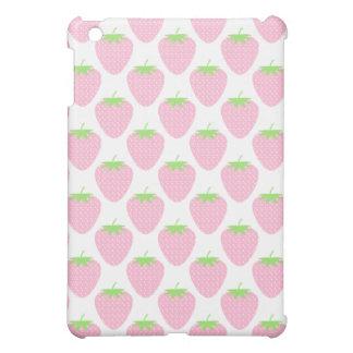 Pretty Pink Strawberry Pern. iPad Mini Cases