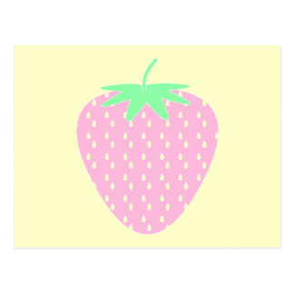 Pretty Pink Strawberry. Postcard