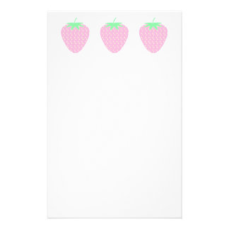 Pretty Pink Strawberry. Stationery