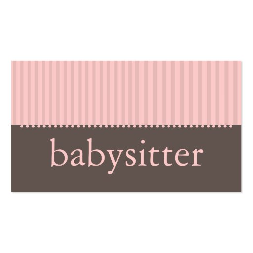Babysitting business