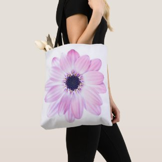 Pretty Pink Summer Flower Tote Bag