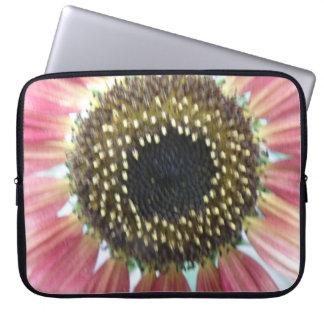 Pretty Pink Sunflower Laptop Bag