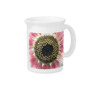 Pretty Pink Sunflower Pitcher