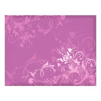 pretty pink swirl floral design 21.5 cm x 28 cm flyer
