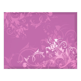 pretty pink swirl floral design flyer