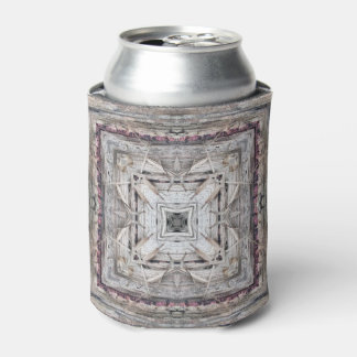 Pretty Pink Tinged Aztec Inspired Pattern Can Cooler