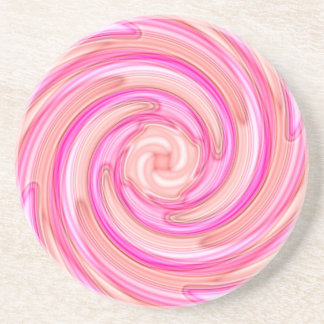 Pretty pink tones girly swirl coaster