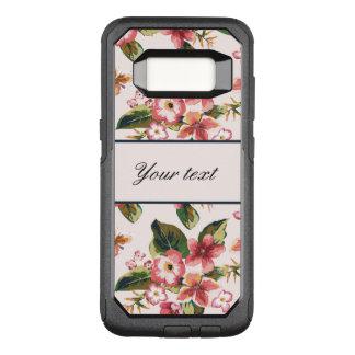 Pretty Pink Tropical Flower Pattern OtterBox Commuter Samsung Galaxy S8 Case