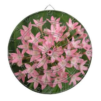 Pretty Pink Tropical Flowers Dart Board