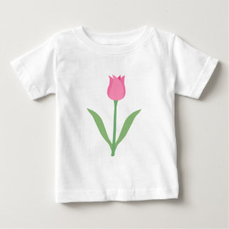 Pretty Pink Tulip Flower. Baby T-Shirt