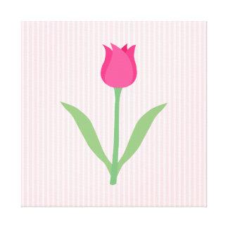 Pretty Pink Tulip Flower Canvas Prints