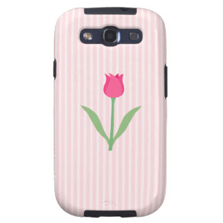 Pretty Pink Tulip Flower. Samsung Galaxy S3 Cases