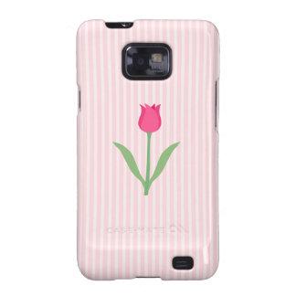 Pretty Pink Tulip Flower Galaxy SII Case