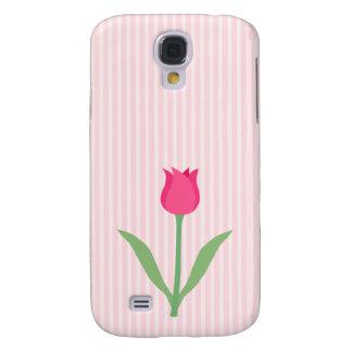 Pretty Pink Tulip Flower Samsung Galaxy S4 Case