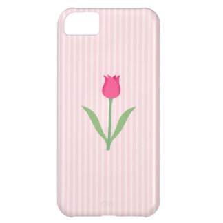 Pretty Pink Tulip Flower iPhone 5C Covers