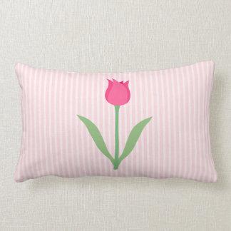 Pretty Pink Tulip Flower Throw Pillows