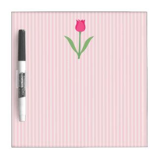 Pretty Pink Tulip Flower Dry-Erase Boards