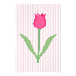 Pretty Pink Tulip Flower Flyer Design