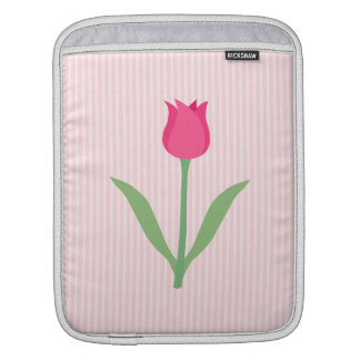 Pretty Pink Tulip Flower. Sleeve For iPads