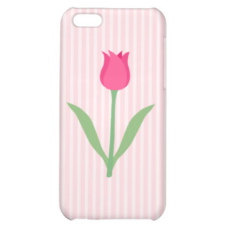 Pretty Pink Tulip Flower iPhone 5C Cover