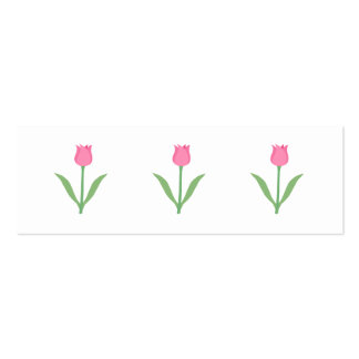 Pretty Pink Tulip Flower. Pack Of Skinny Business Cards