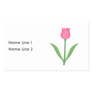 Pretty Pink Tulip Flower. Pack Of Standard Business Cards