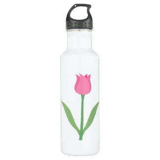 Pretty Pink Tulip Flower. 710 Ml Water Bottle