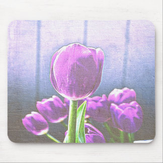 Pretty Pink Tulip Flowers Mousepad