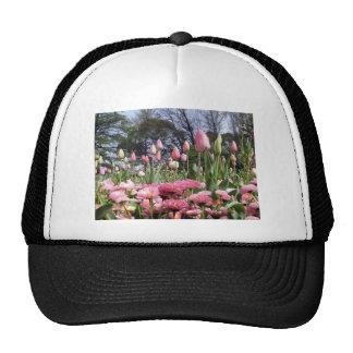 Pretty Pink Tulip Garden Hats