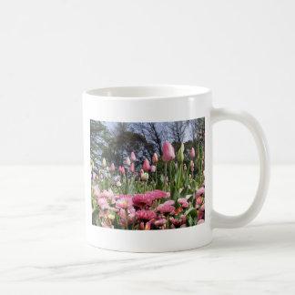 Pretty Pink Tulip Garden Coffee Mug