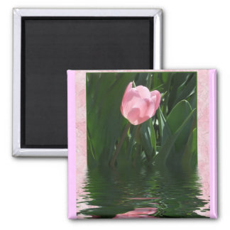 Pretty Pink Tulip Magnet