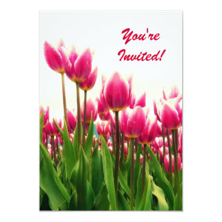 Pretty Pink Tulips - any occasion Party Invitation