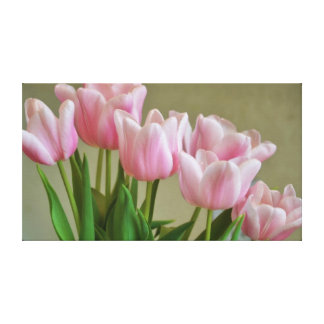 Pretty Pink Tulips Gallery Wrap Canvas