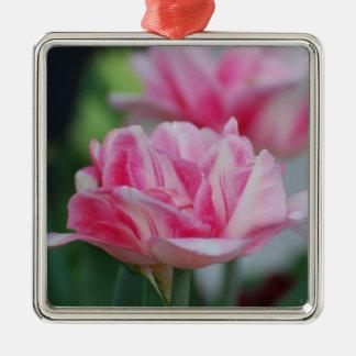 Pretty Pink Tulips Christmas Ornament