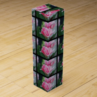 Pretty Pink Tulips Wine Gift Boxes