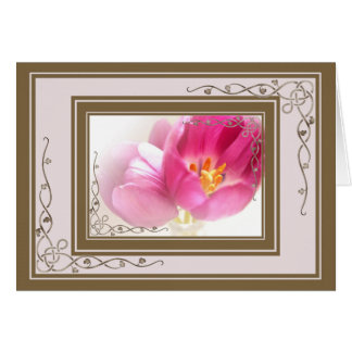 Pretty Pink Tulips Greeting Card