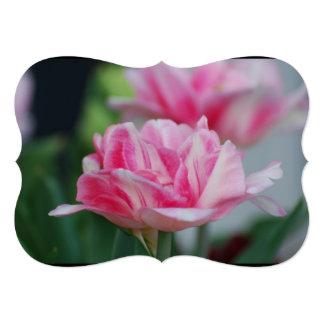 Pretty Pink Tulips 13 Cm X 18 Cm Invitation Card