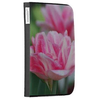 Pretty Pink Tulips Kindle Folio Case