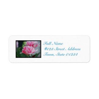 Pretty Pink Tulips Return Address Label