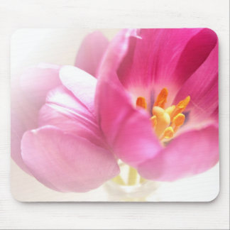 Pretty Pink Tulips Mouse Mat