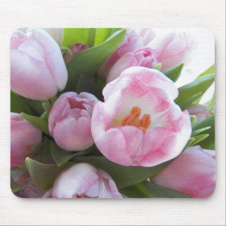 Pretty Pink Tulips Mouse Pads