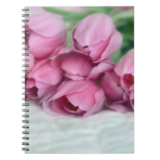 Pretty Pink Tulips Note Book