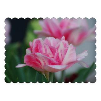 Pretty Pink Tulips Personalized Invitation