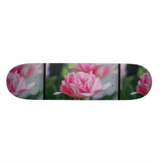 Pretty Pink Tulips Custom Skate Board