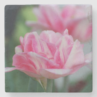 Pretty Pink Tulips Stone Coaster