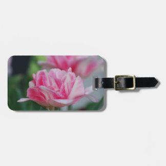 Pretty Pink Tulips Travel Bag Tag