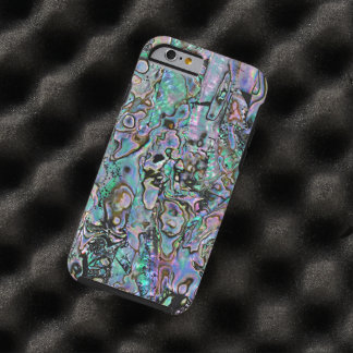 Pretty Pink Turquoise Faux Abalone Shell Pattern Tough iPhone 6 Case