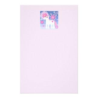 Pretty Pink Unicorn Letterhead