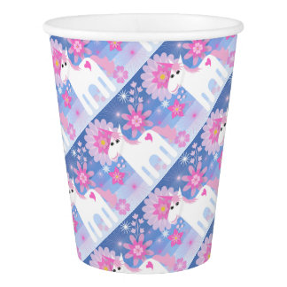 Pretty Pink Unicorn Paper Cup