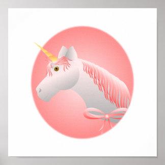 Pretty Pink Unicorn Poster